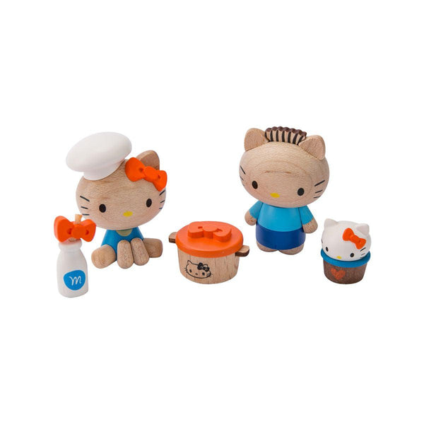 Wooderful Hello Kitty & Daniel DIY Figure Set