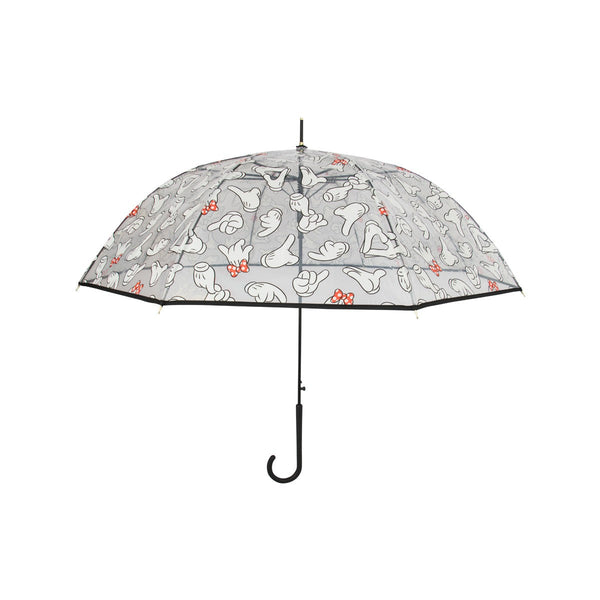 Disney Transparent  Stick Umbrella-Mickey & Minnie Hands