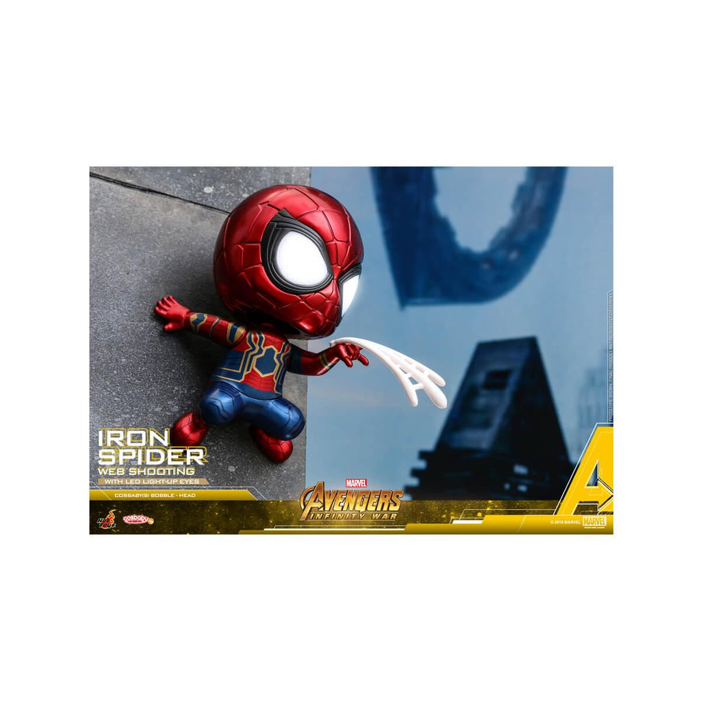 Hot Toy Iron Spider (Web Shooting) Cosbaby (S) Bobble-Head