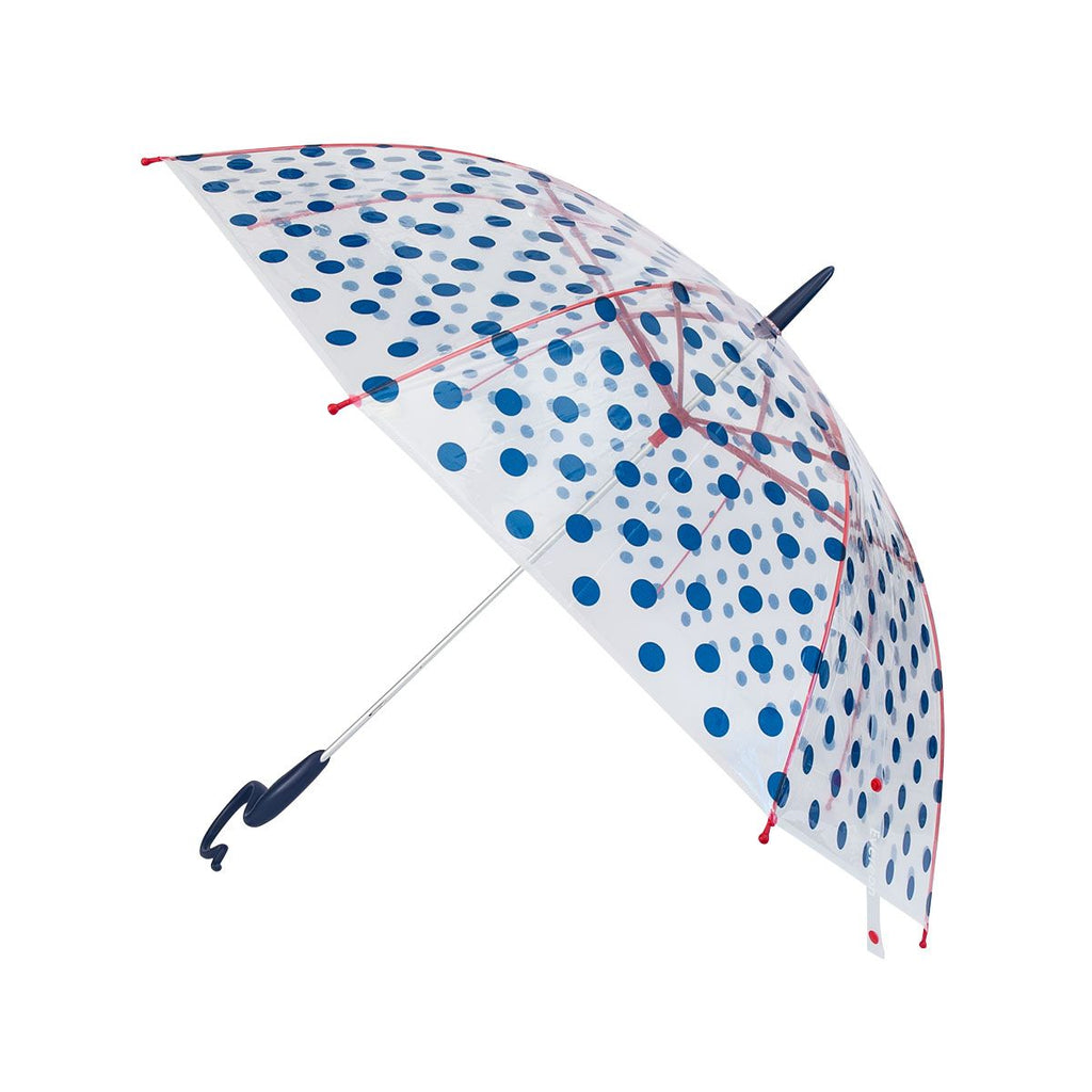Evereon Transparent   Stick Umbrella-Dot Navy