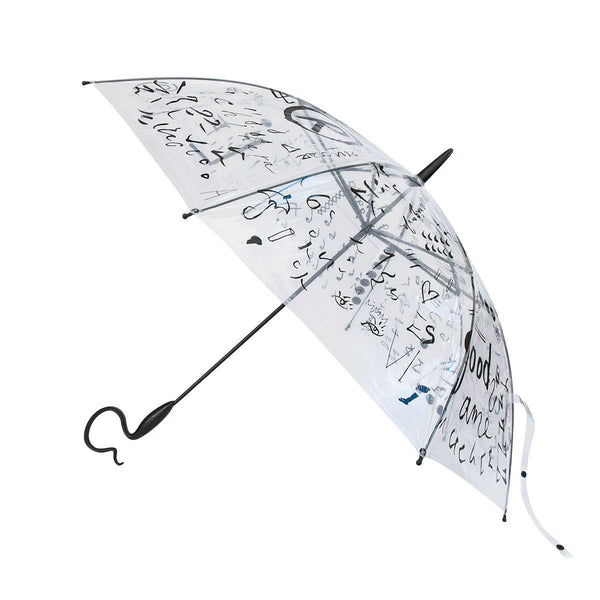 Evereon Transparent   Stick Umbrella-Tetsuya Series-Handwriting