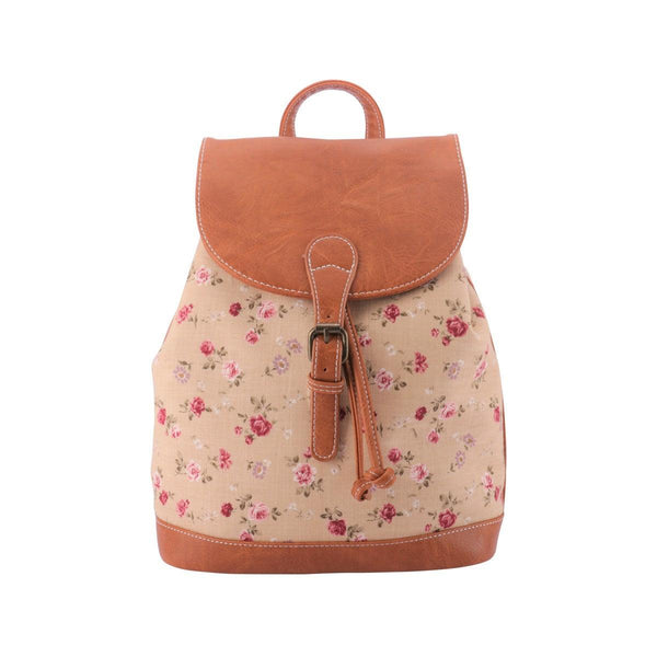 LOG-ON Garden Floral Backpack-Beige