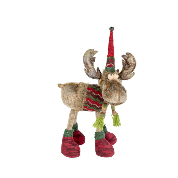 Fabric Moose with LEGS (Red) 40X50CM