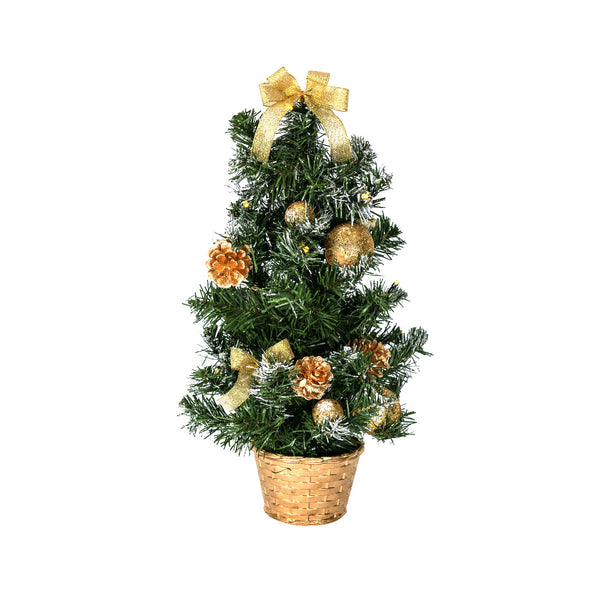 Table Top Tree (10 Gold LED)  H50CM
