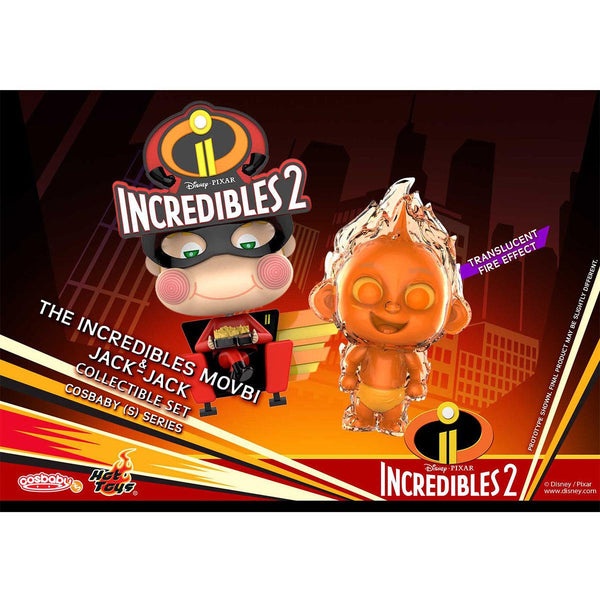 """HOT TOYS 《Incredibles 2》  Incredibles 2 Movbi & Jack-Jack Cosbaby (S) Collectible Set"""