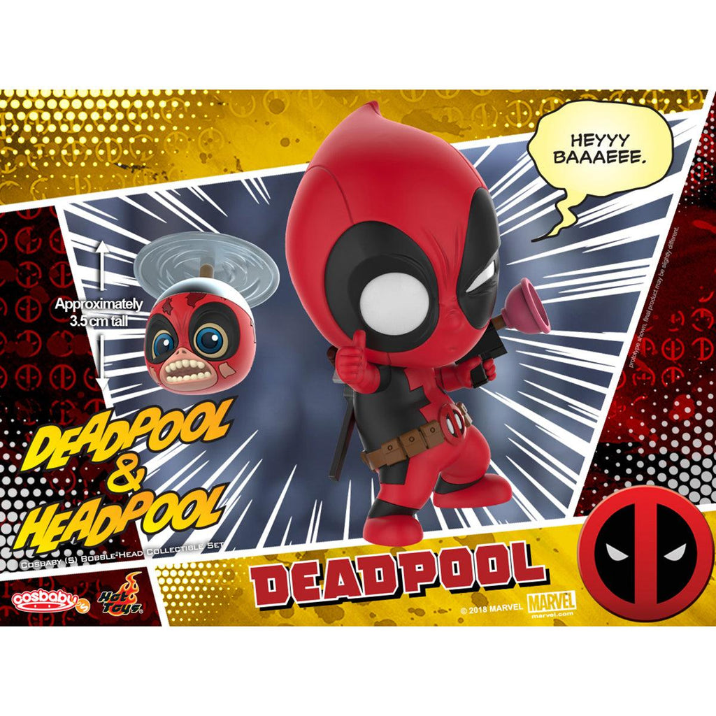 Hot Toys Deadpool and Headpool COSBABY (S) Bobble-Head Collectible Set
