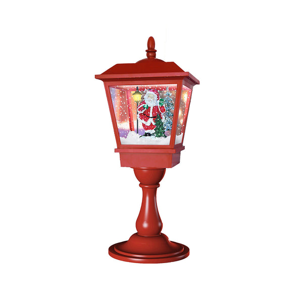 Table Top Snowing Lamp Post H64CM - Battery operated