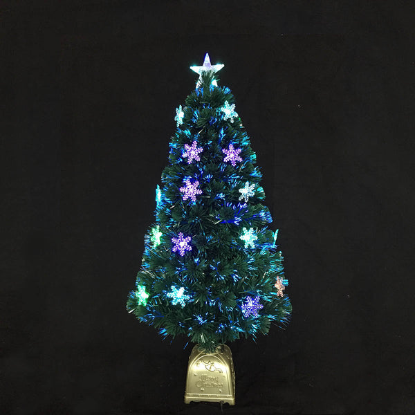 Snow Crystal Optic Fiber Tree (Snowflake Ornaments & Base Pot included)
