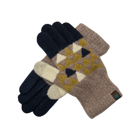 Tehtävä+ Regular Touch Gloves-MUSTARD TRIANGLE