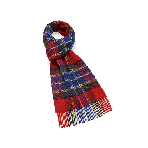 BRONTE BY MOON Dales Lambswool Scarf-SCAMPSTON RED