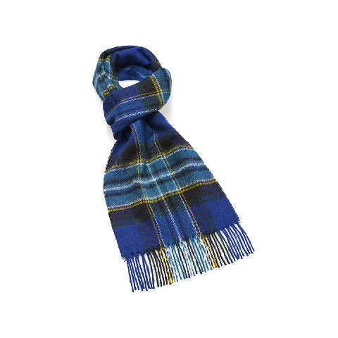 BRONTE BY MOON Dales Lambswool Scarf-SCAMPSTON ROYAL