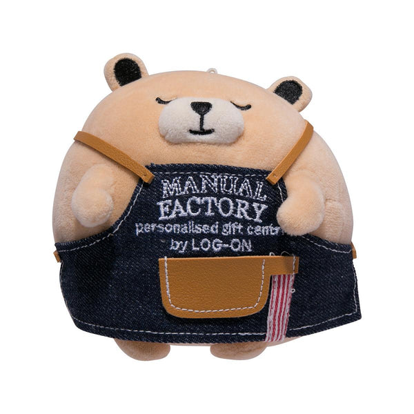 Manual Factory Bear Round Plush with Keychain