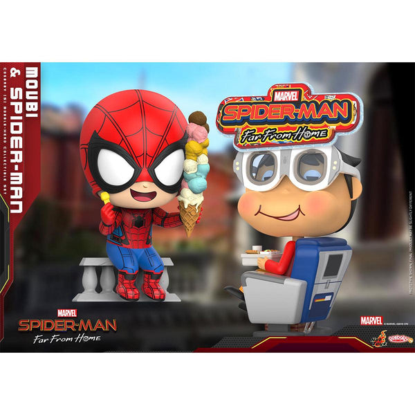 """HOT TOYS 《Spider-Man: Far From Home》 Movbi and Spider-Man Cosbaby (S) Bobble-Head Collectible Set"""