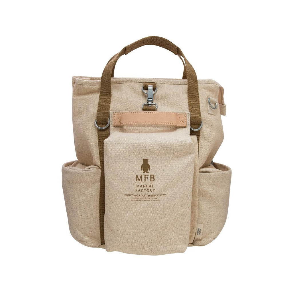 Manual Factory MFB 3-Way Canvas Bag - Beige  (1200g)