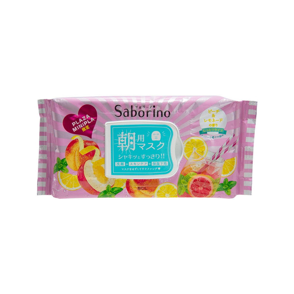 BCL Saborino Good Morning Facial Sheet Mask (Peach Lemonade) 28P