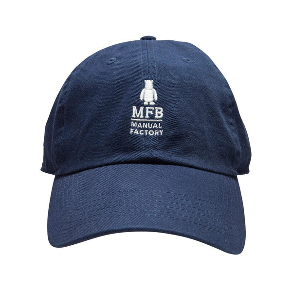 MANUAL FACTORY CTN Washed Cap NH1400 Navy w Embroidery