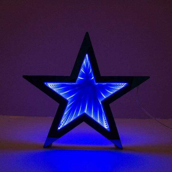ET Hanging 3D Infinity Star Blue