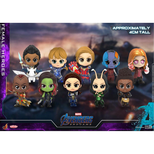 HOT TOYS 《Avenger 4: Endgame》  Female Heroes Cosbaby Bobble-Head Collectible Set