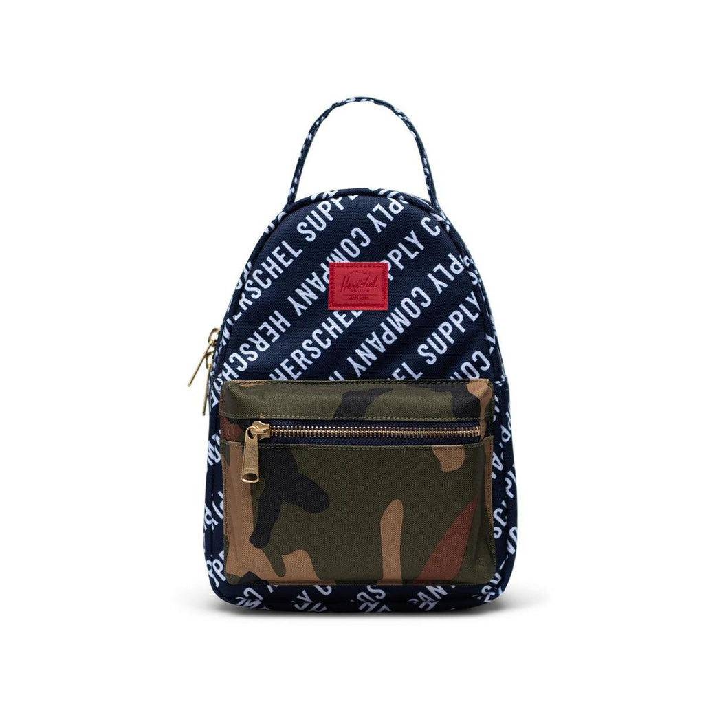 Herschel Nova Mini Backpack-Roll Call Peacoat/Woodland Camo