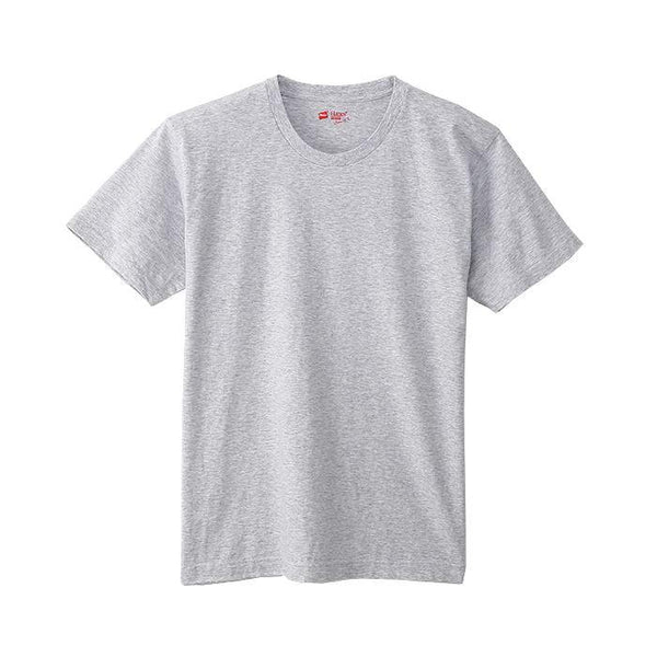 Hanes Crew Neck T-Shirts Japan Fit - White / Grey