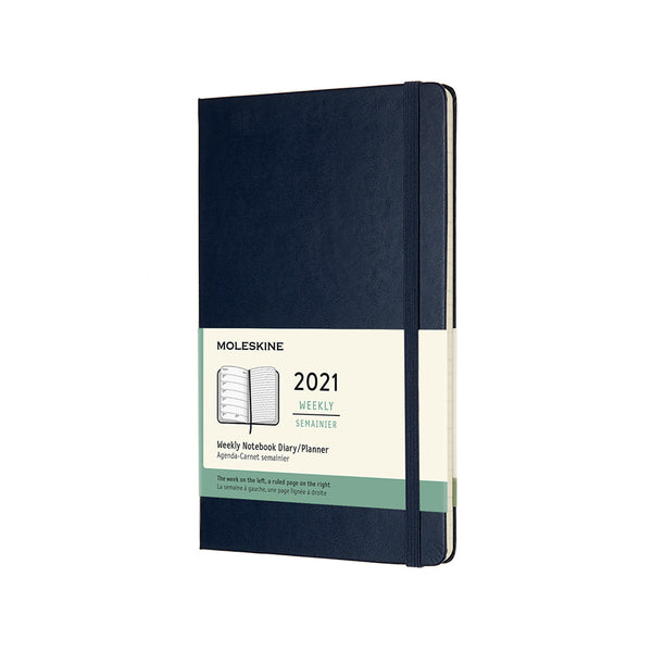 MOLESKINE 12 Month Large Size Weekly Planner Hard Cover Blue