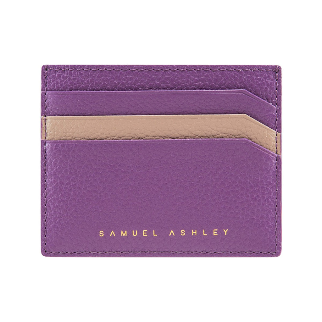 Samuel Ashley X LOG-ON crossbody edition Jillian cardcase-Violet/Beige