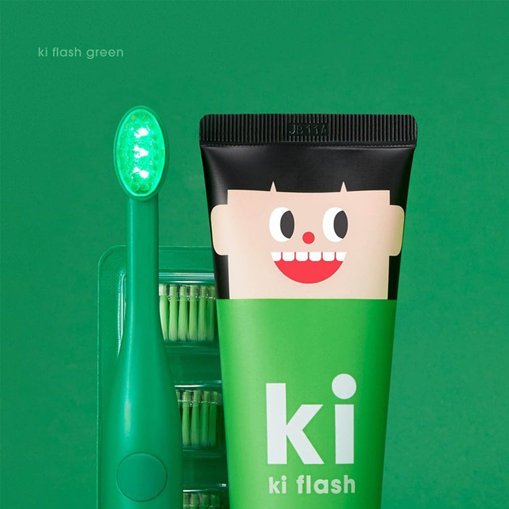 E:Flash KI Flash Kids Green LED Dental Care Set - Green ( Made in Korea)