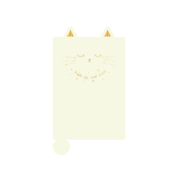APJ A6 Monthly Die Cut Cat Ivory