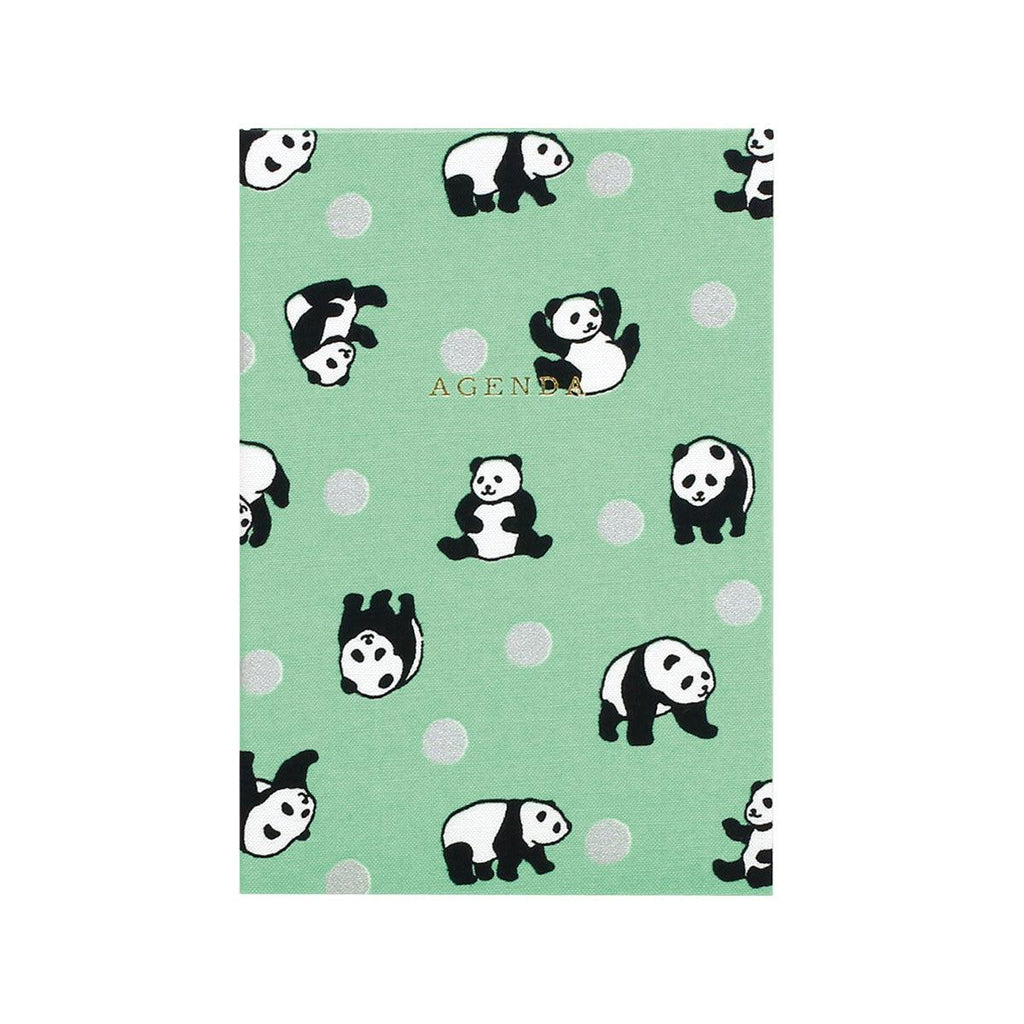 LAB CLIP A6 Monthly Textile Panda Green