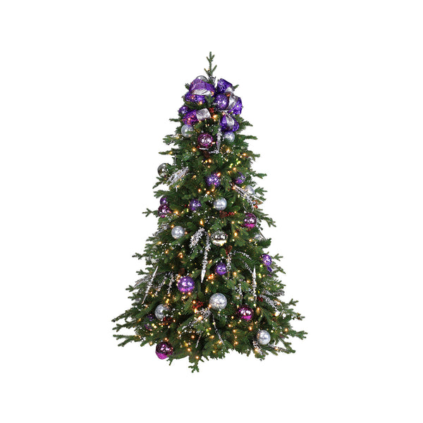 Purple Twinkle 6 ft Tree with lights & ornaments