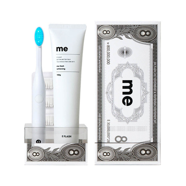 E:Flash ME Flash LED Dental Whitening Toothbrush Set (Made in Korea)