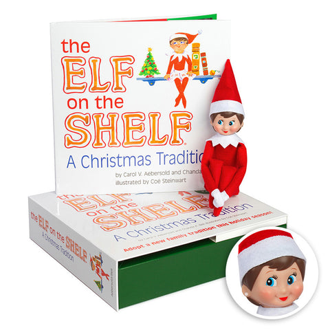 The Elf on the Shelf: A Christmas Tradition (includes girl Scout Elf w/ blue eyes)