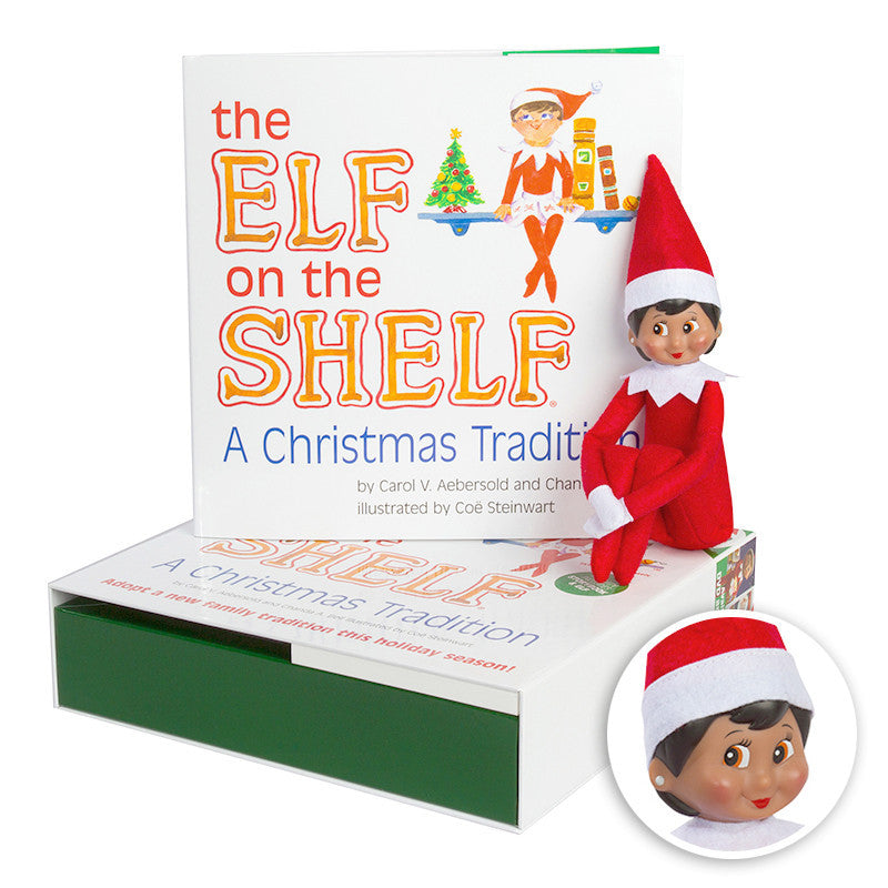 The Elf on the Shelf® A Christmas Tradition: Dark Skin Girl Box Set