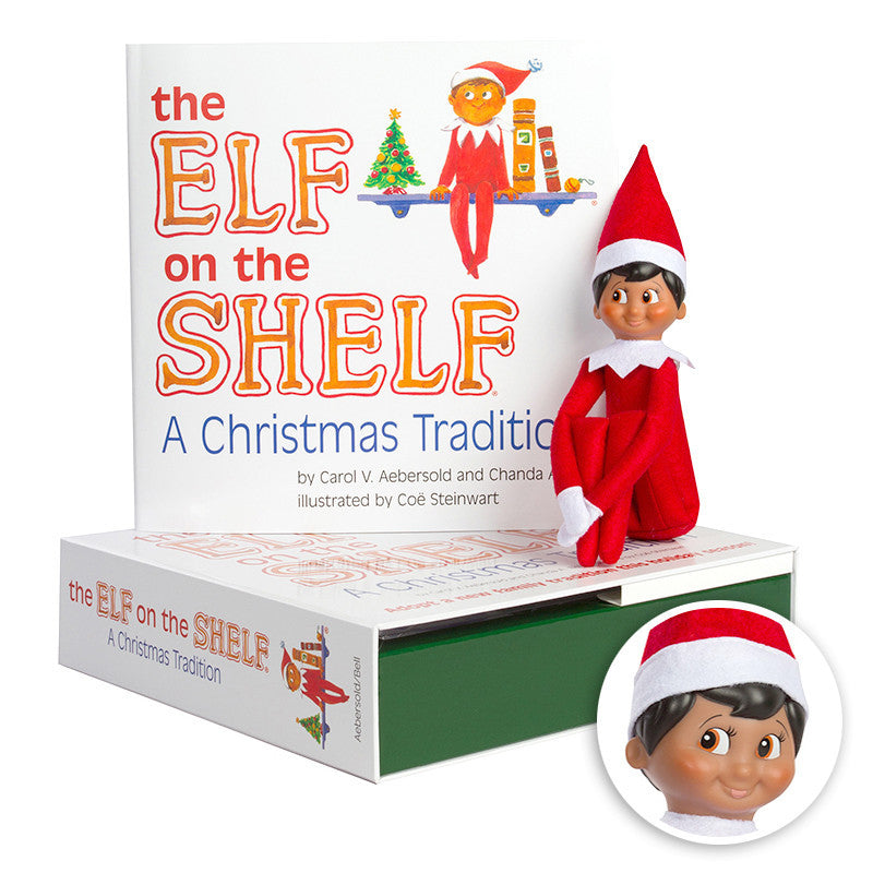 The Elf on the Shelf® A Christmas Tradition: Dark Skin Boy Box Set