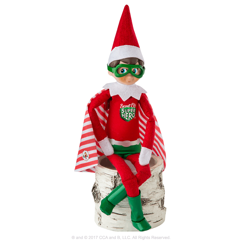 Claus Couture Collection® Scout Elf Superhero: Outfit on Scout Elf