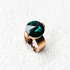 emerald statement ring