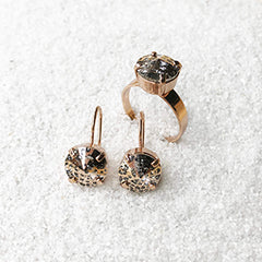 crystal drop earrings cocktail ring