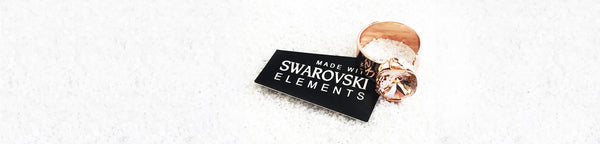 Rose gold ethical ring with swarovksi crystal