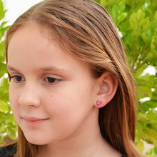 pink stud earrings for kids