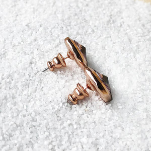 unique rose gold stud earrings