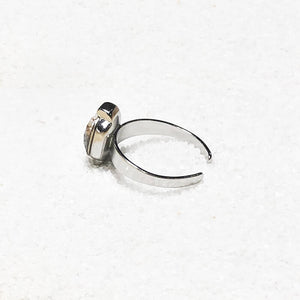 adjustable cocktail ring silver