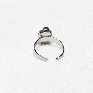 adjustable cocktail ring silver hypoallergenic