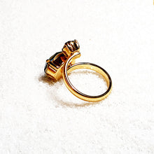 Ziva Dual Swarovski Gold Statement Ring