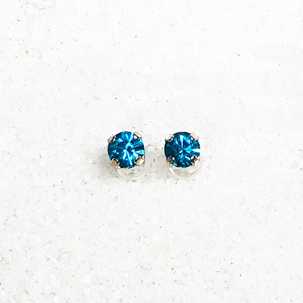 sparkly blue stud earrings for kids australia