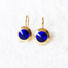 ethical beautiful earrings majestic blue and gold