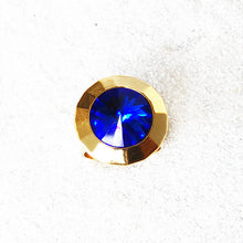 Blue and Gold unique swarovski jewellery statement rings