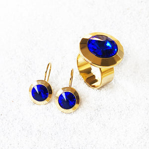 unique jewellery Majestic Blue and Gold bold