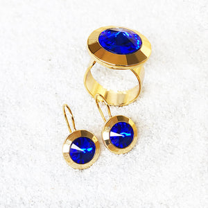 elegant ethical jewellery Majestic Blue and Gold