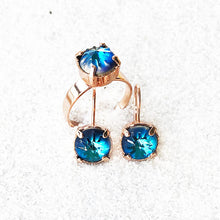 unique ethical jewellery blue and rose gold elegant set online