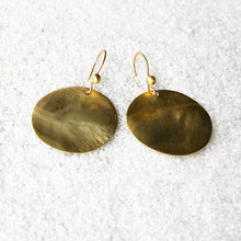 elegant gold disc drop earrings